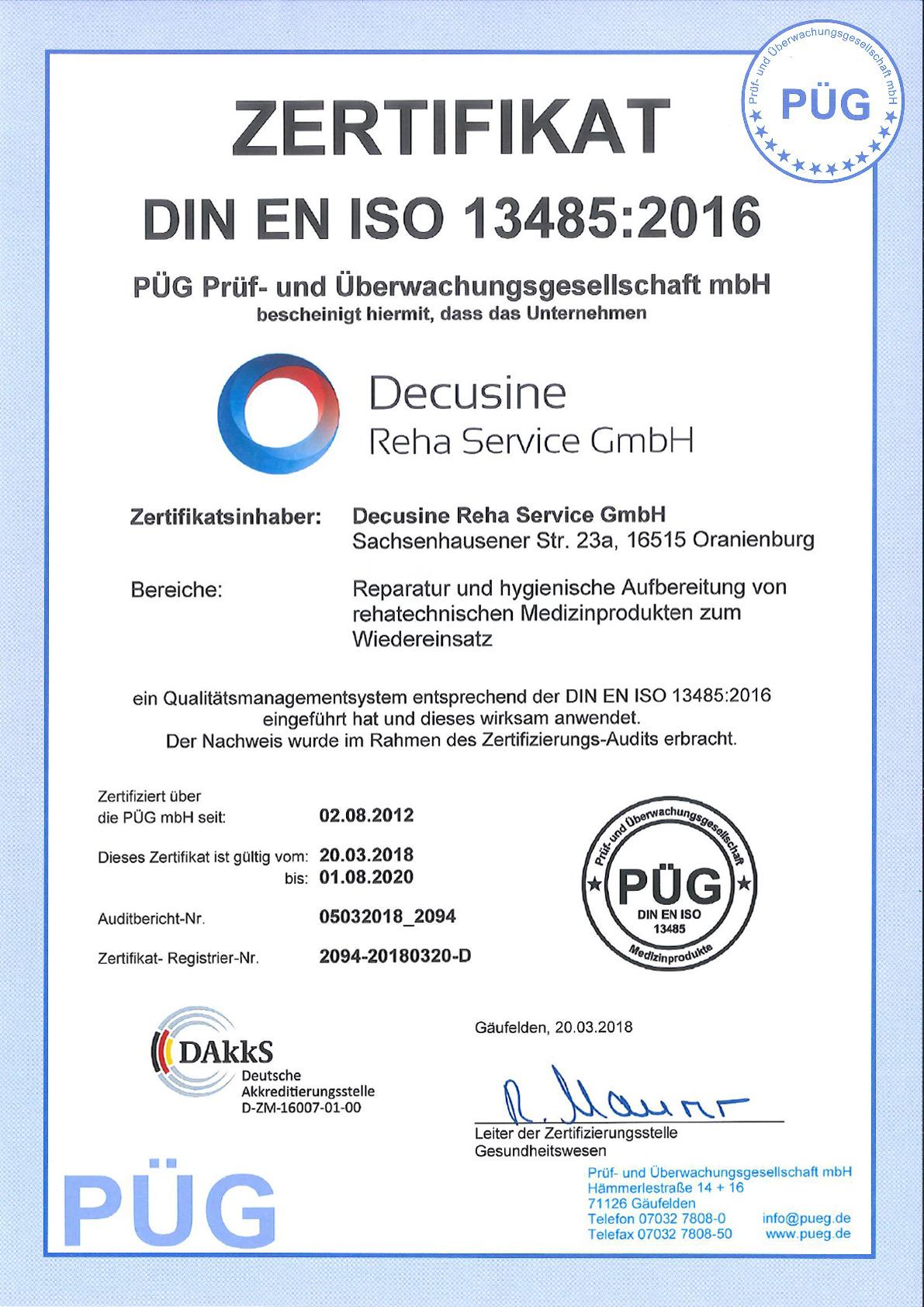 Zertifizierung PÜG
